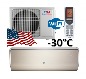 Oro kondicionierius/šilumos siurblys C&H VIP Inverter CH-S12FTXHV-B (-30°C) su montavimo darbais!