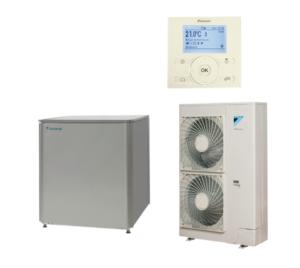 Aukštatemperatūrinis  šilumos siurblys Daikin ERRQ011AY1 + EKHBRD011ACY1