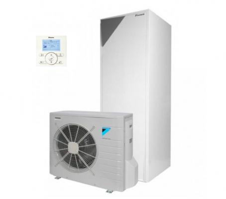 Šilumos siurblys oras-vanduo Daikin ERLQ008CV3 + EHVH08S18CB3V su integruota vandens talpa 180L