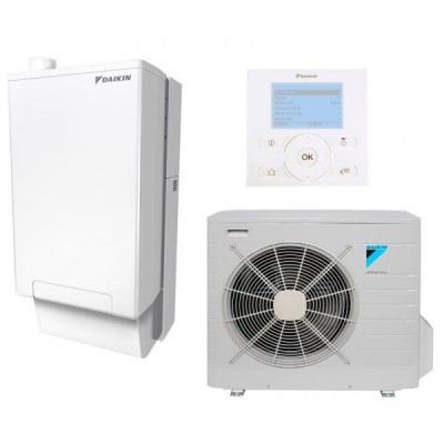 Hibridinis šilumos siurblys šildymui ir vėsinimui Daikin EVLQ08CV3 + EHYHBX08AV3 + EHYKOMB33AA