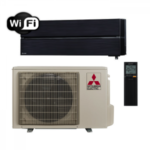 Oro kondicionierius/šilumos siurblys oras-oras Mitsubishi MSZ-LN25VGB/MUZ-LN25VGHZ (juoda spalva) (-25°C)