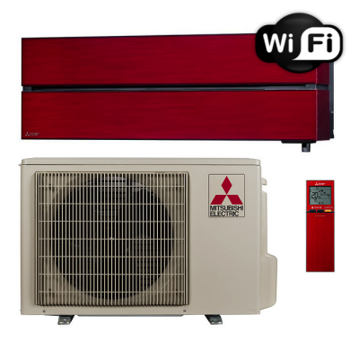 Oro kondicionierius/šilumos siurblys oras-oras Mitsubishi MSZ-LN25VGR/MUZ-LN25VGHZ (raudona spalva) (-25°C)