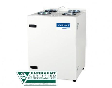 Domekt CF 250 V rekuperatorius su priešsroviniu plokšteliniu šilumokaičiu (vertikalaus pajungimo)