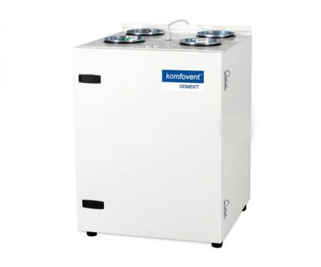 Domekt CF 400 V rekuperatorius su priešsroviniu plokšteliniu šilumokaičiu (vertikalaus pajungimo) be pultelio