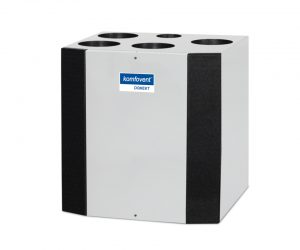 Domekt R 300 V rekuperatorius su rotaciniu šilumokaičiu (vertikalaus pajungimo) be pultelio, kondensacinis