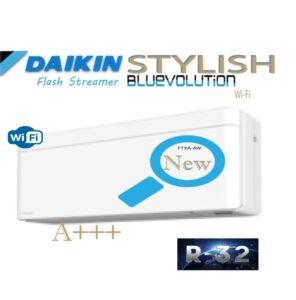 Oro kondicionierius/ šilumos siurblys (oras-oras) Daikin STYLISH Split Inverter FTXA50AW/RXA50B (-15°C)