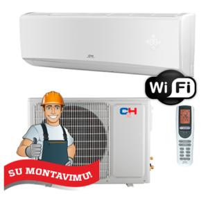Oro kondicionierius/šilumos siurblys (oras-oras) C&H ALPHA Inverter CH-S09FTXE (-15°C) su montavimo darbais!
