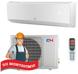 Oro kondicionierius/šilumos siurblys (oras-oras) C&H ALPHA Inverter CH-S07FTXE-NG (-15°C) su montavimo darbais!