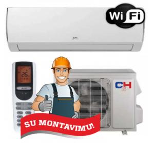 Oro kondicionierius/šilumos siurblys (oras-oras) VERITAS inverter CH-S09FTXQ (-15°C) su montavimo darbais!