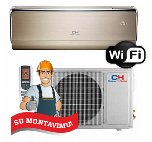 Oro kondicionierius/šilumos siurblys C&H VIP Inverter CH-S18FTXHV-B (-30°C) su montavimo darbais!