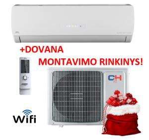 Šilumos siurblys (oras-oras) ICY inverter CH-S24FTXTB2S-W (-30°C) su MONTAVIMO RINKINIU!