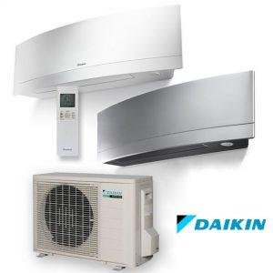 Daikin EMURA Split Inverter oro kondicionierius/ šilumos siurblys (oras-oras) FTXJ35MW-MS/RXJ35M (-15°C)